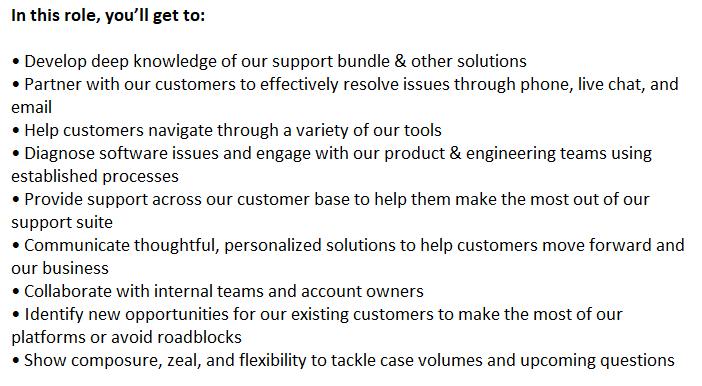 Customer Service Job Description: Opportunity With the Organization