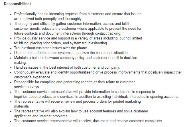 Customer Service Job Description: Roles & Responsibilities