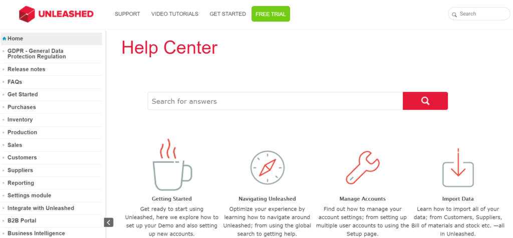 Unleashed Help Center