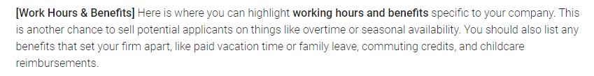 Customer Service Job Description: Work Culture