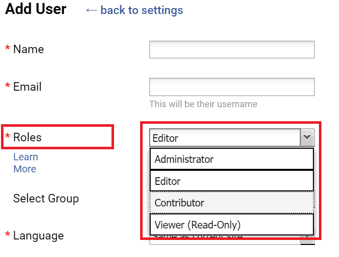 Assign roles to the users in a Training documentation