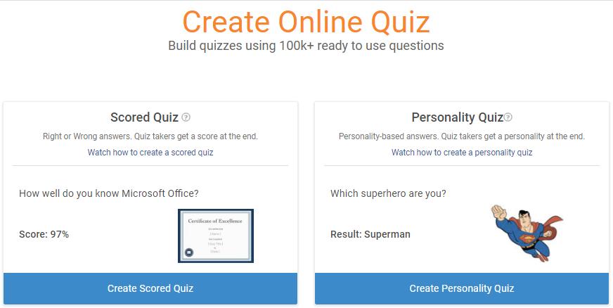 Create Online Quiz