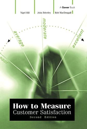 How to Measure Customer Satisfaction Book