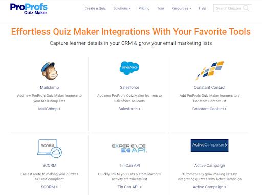 Integrate Your Lead Quiz