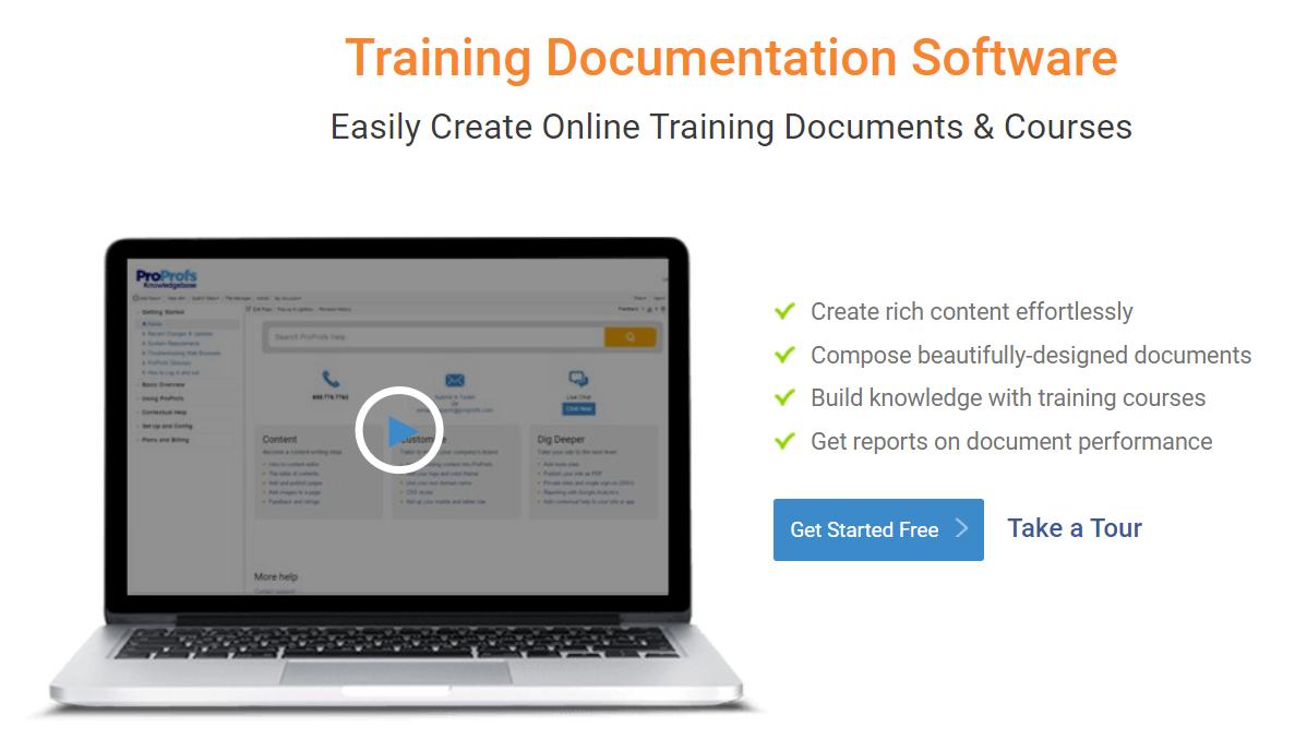 Training Documentation software
