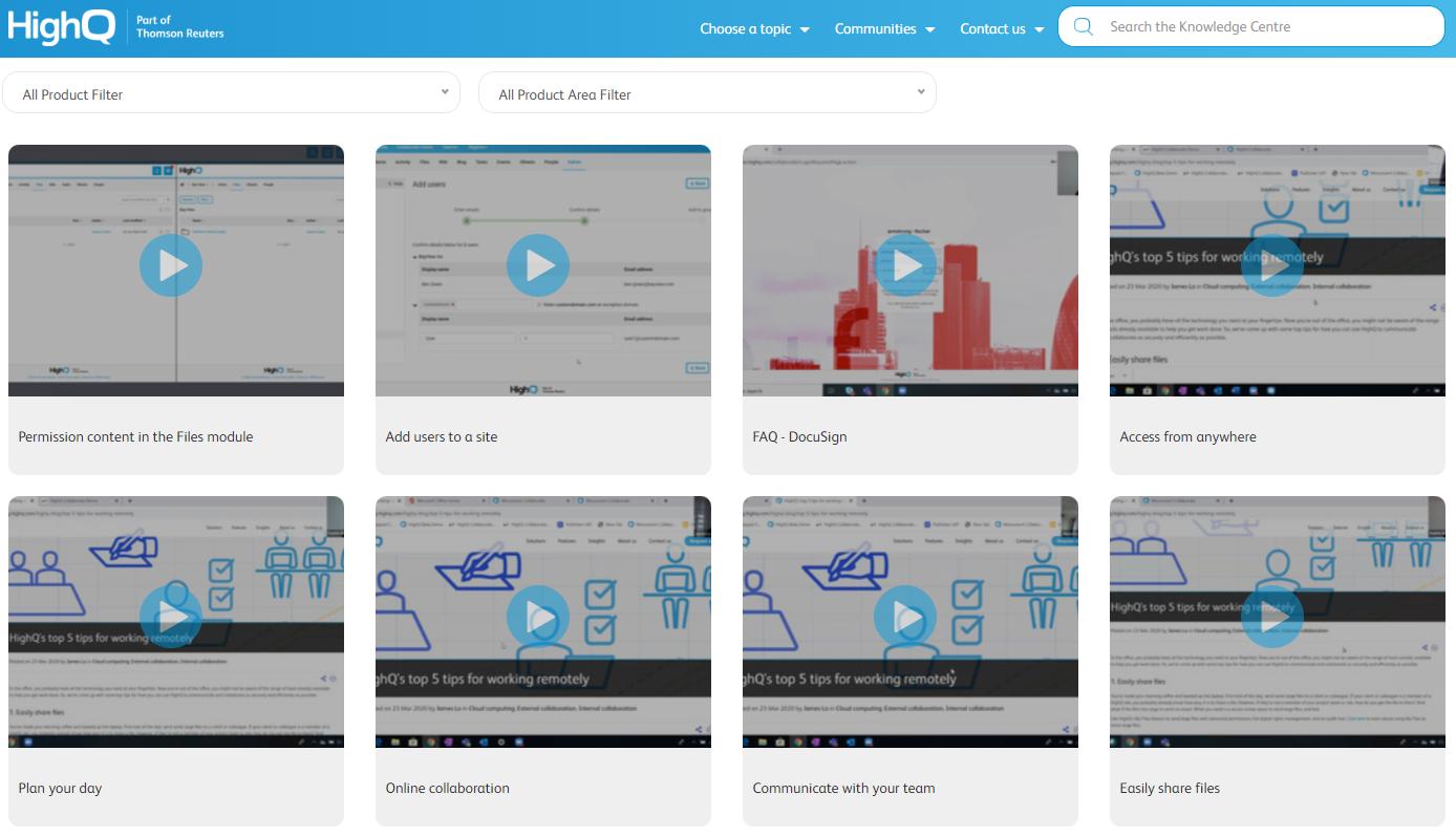 HelpQ knowledge base video example