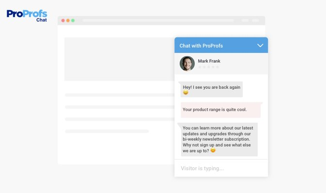 Newsletter Subscriptions With Live chat