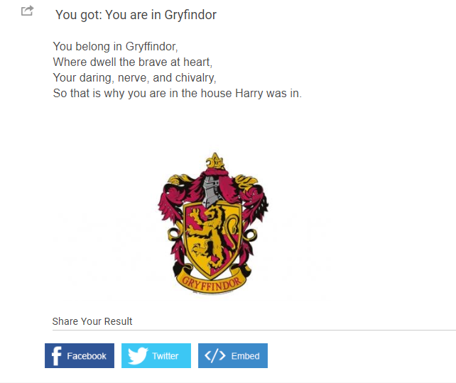 Personalized Quiz Results