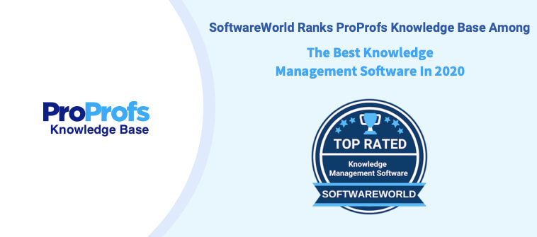 ProProfs Knowledge Base Rated Among the Best Knowledge Management by SoftwareWorld