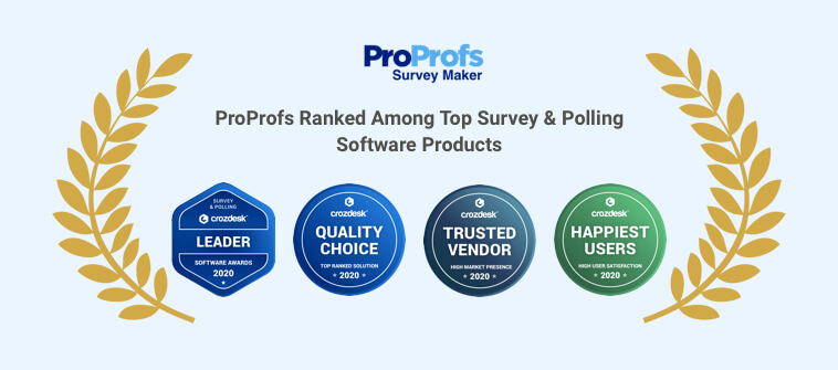 ProProfs Survey Maker Ranks in 'Top Survey & Polling Software Products in 2020'
