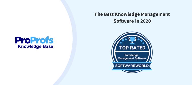 SoftwareWorld Ranks ProProfs knwoledge Base Among Best Knowledge Management