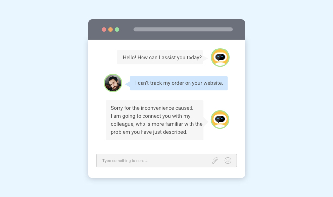 conversation with chatbot