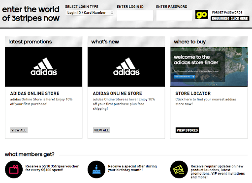 Adidas loyalty program