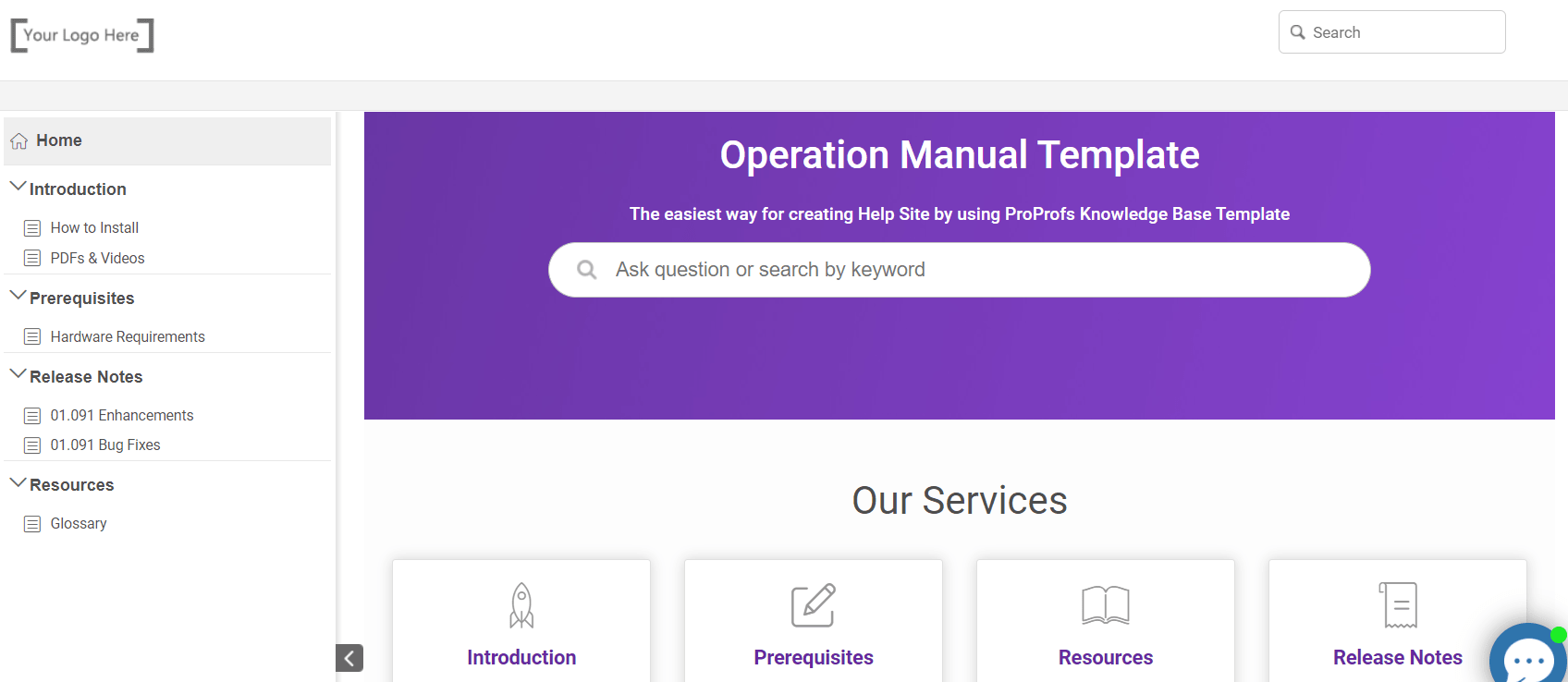 Ready to Use Operations Manual Templates