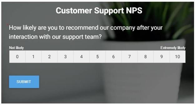 Customer Support NPS