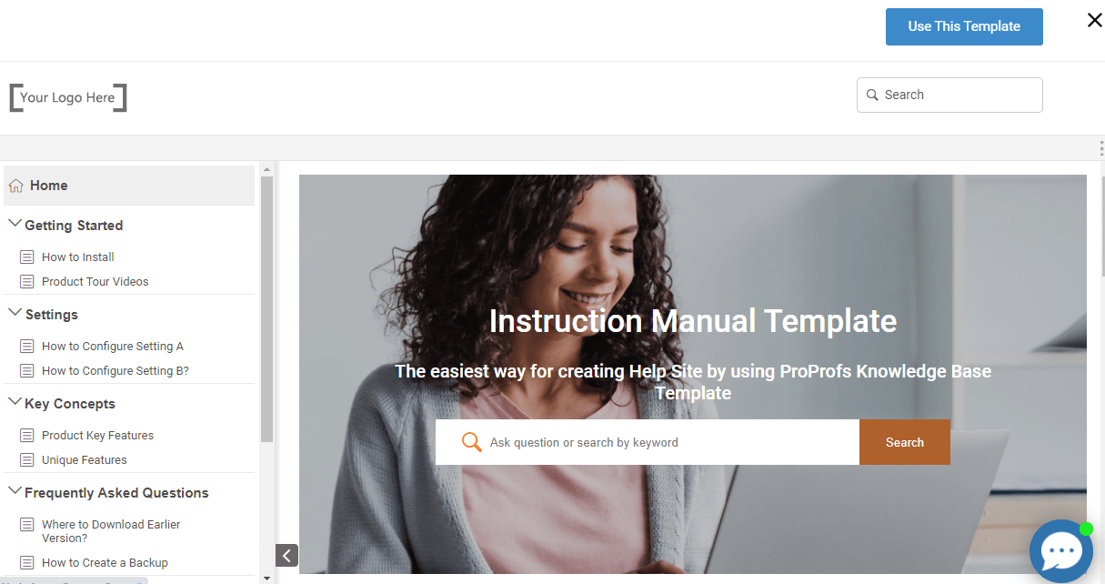 free instruction manual template