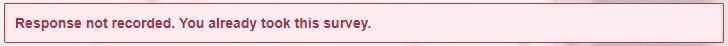 Survey Messages