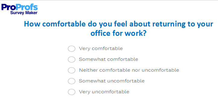 Return to Work Survey