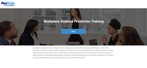 Best Course for Workplace Violence Prevention Training