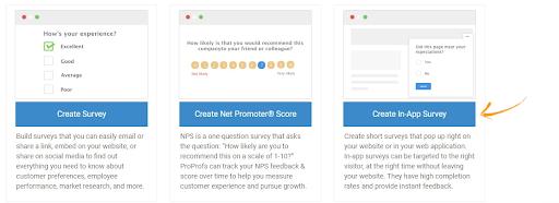 Create In-App Survey