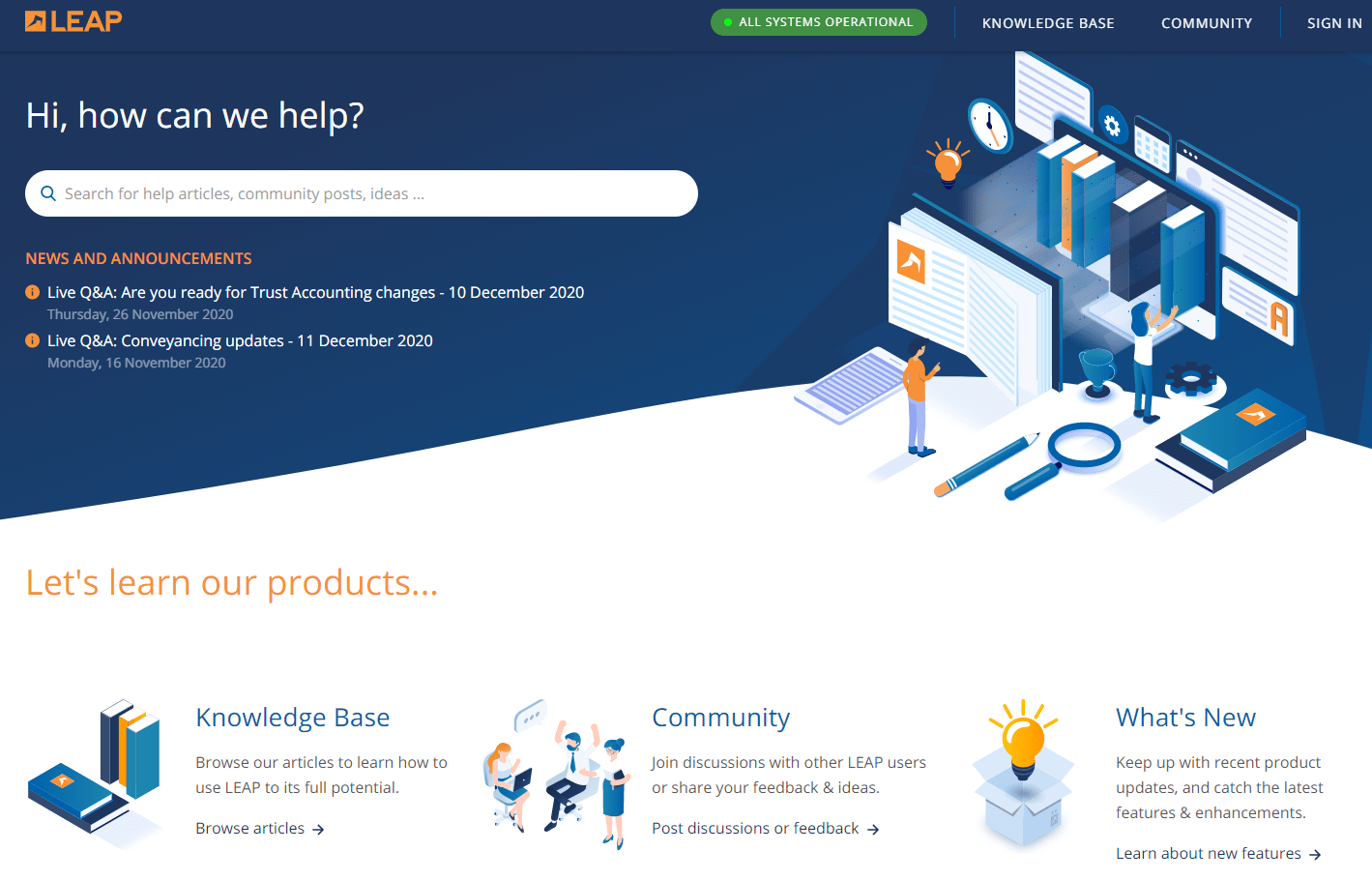 Leap Knowledge Base Design