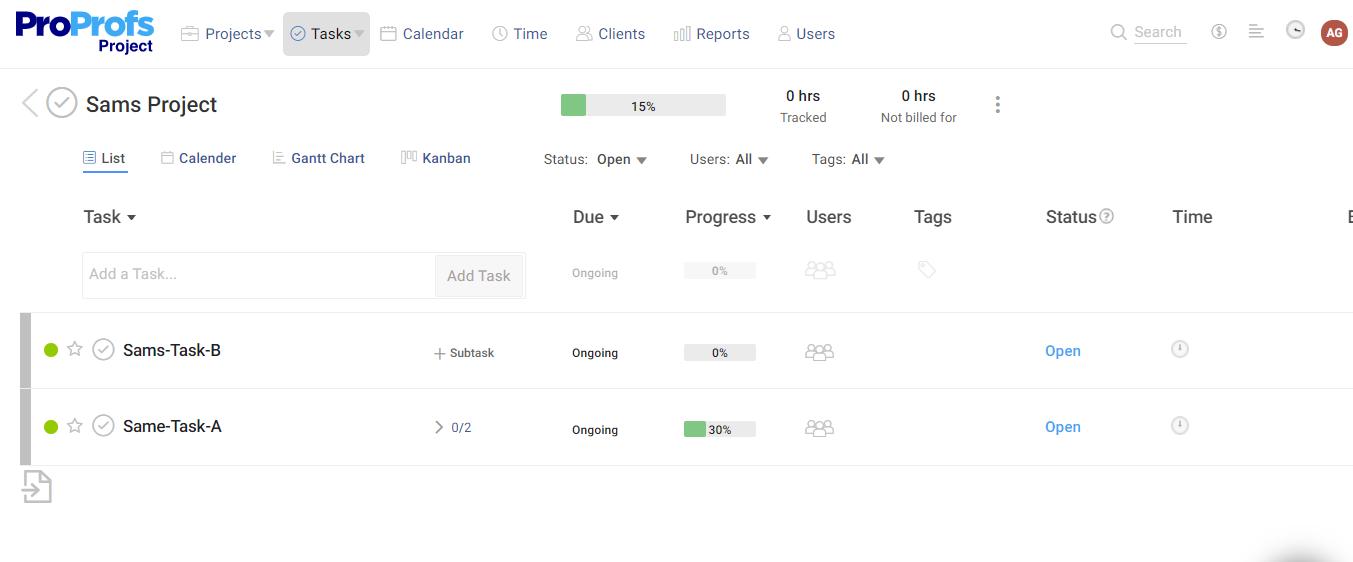 Plan & Prioritize task
