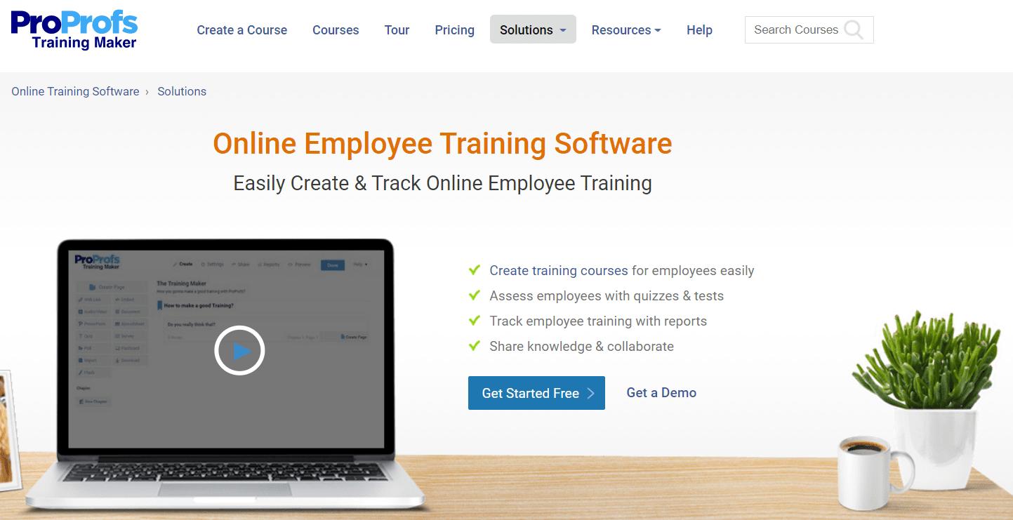 ProProfs Employee Training Software