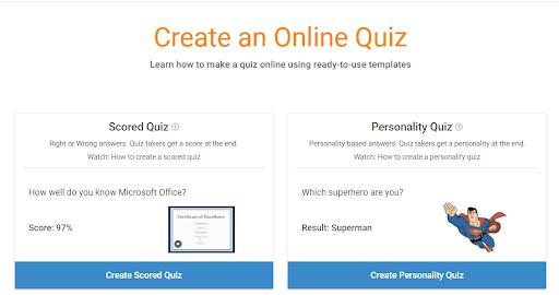 create an online quiz