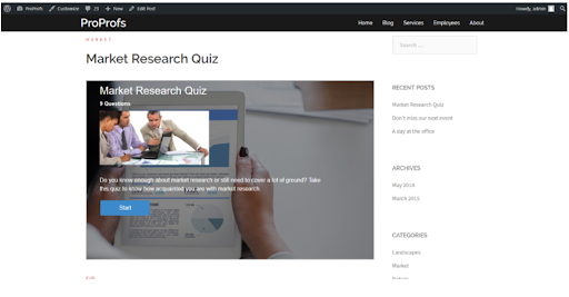 Embed the Quiz in WordPress