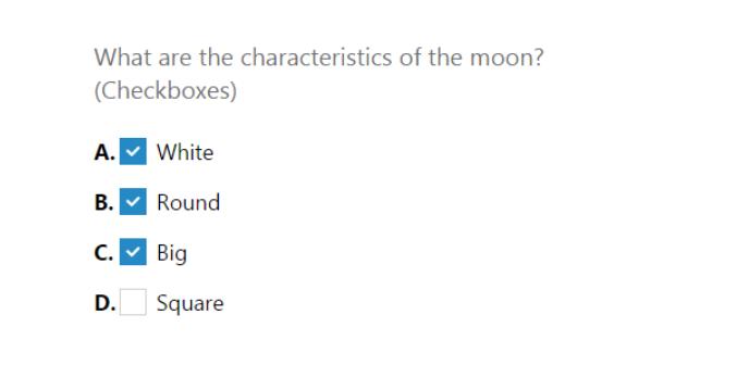 Multiple Response question
