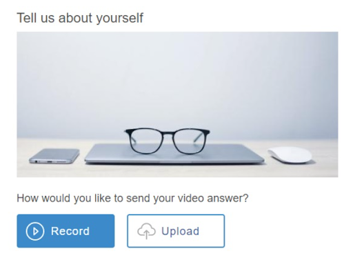 record video question format