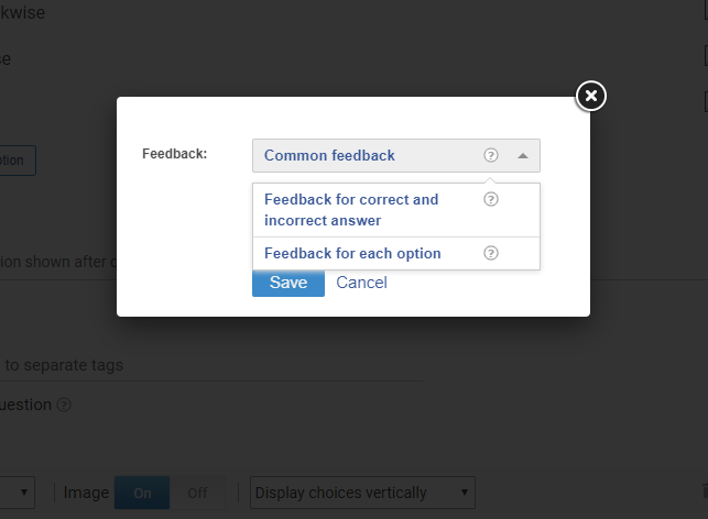 type of feedback
