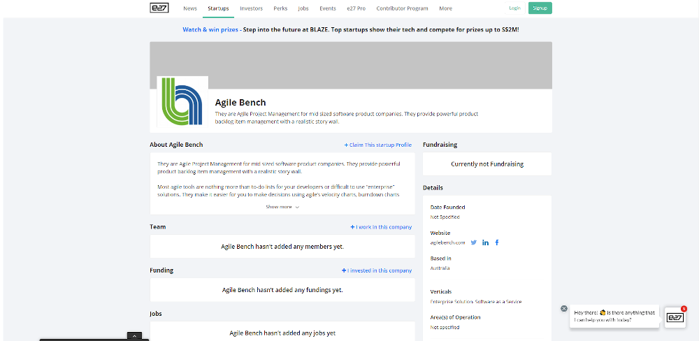 Agile Bench Homepage