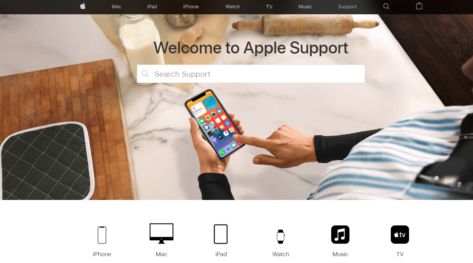 Apple user documentation example