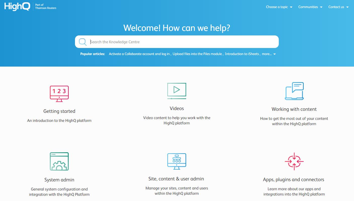 HelpQ knowledge management example