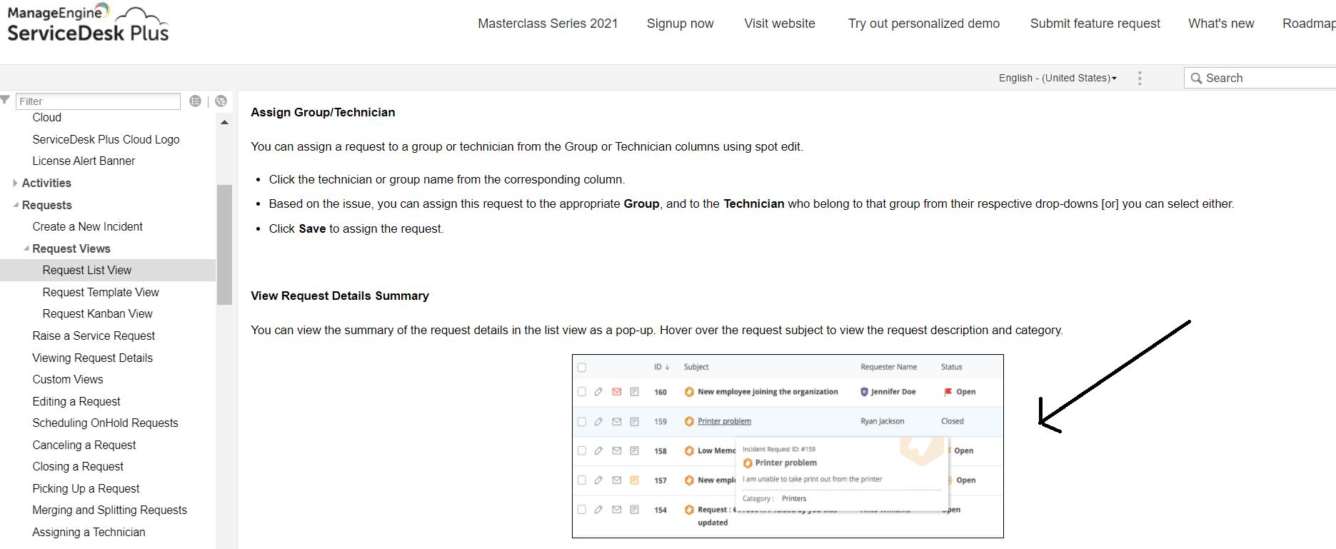 Manage Engine Internal documentation example