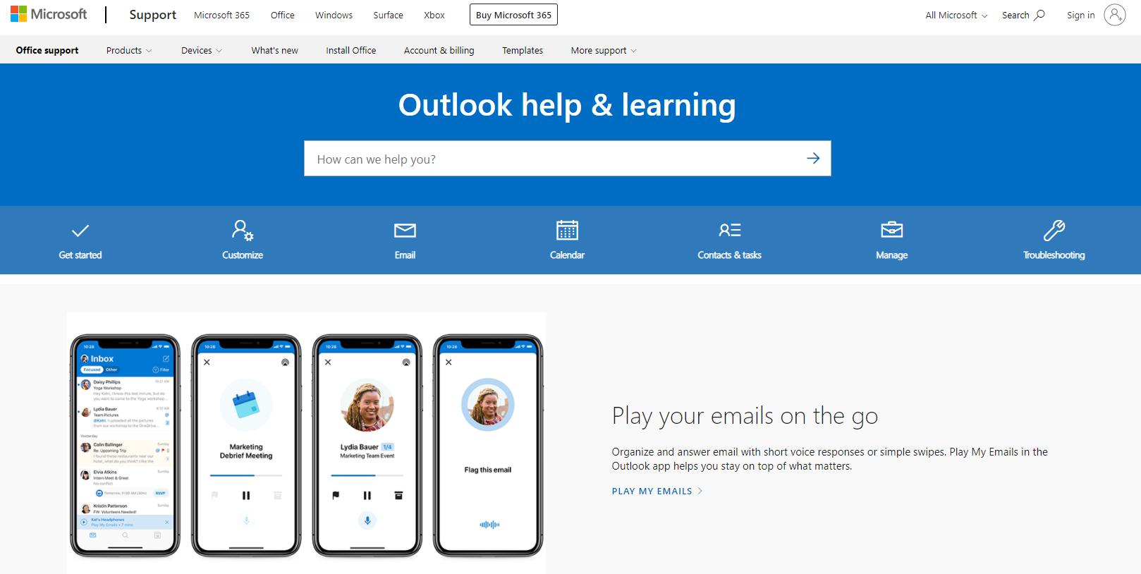 Microsoft Help Center