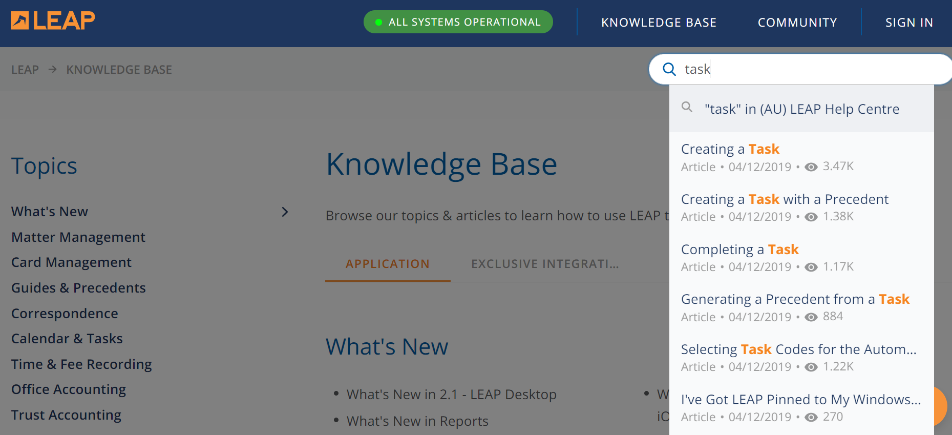 Search System in Knowledge management system