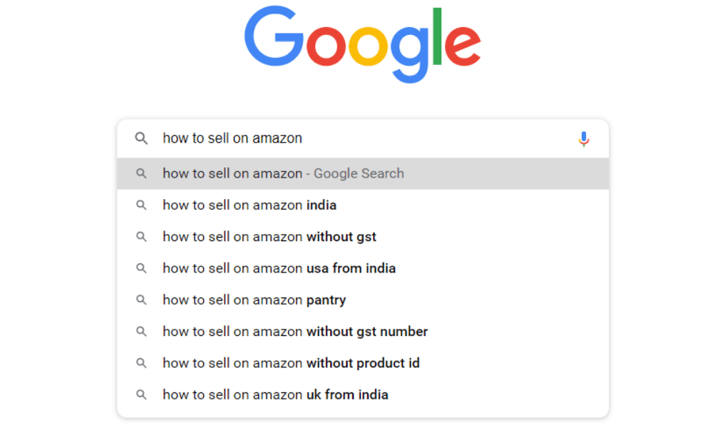 Search FAQs on google
