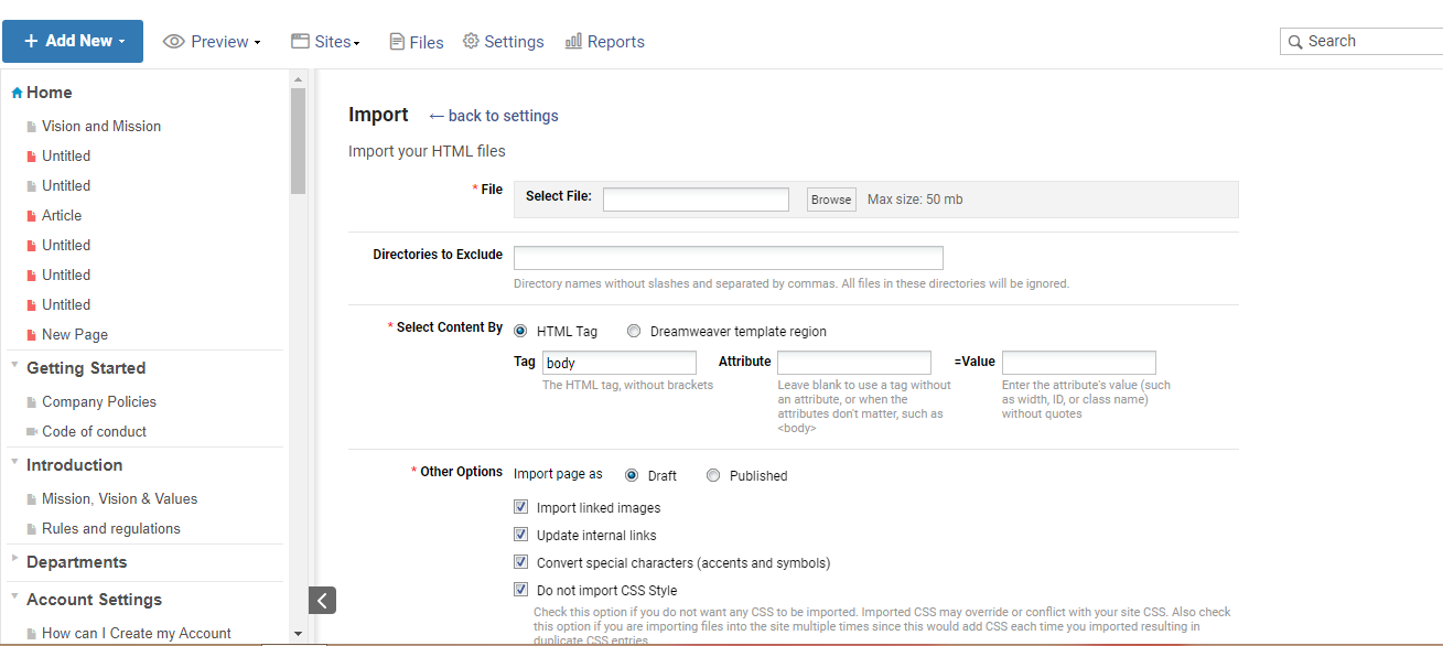 Export pdf to your private wiki