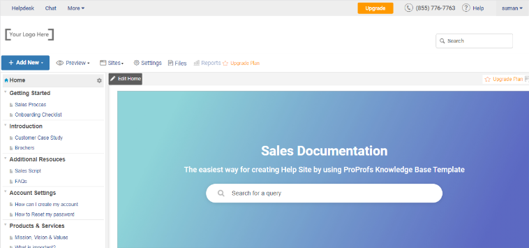 Select a Sales Documentation Template