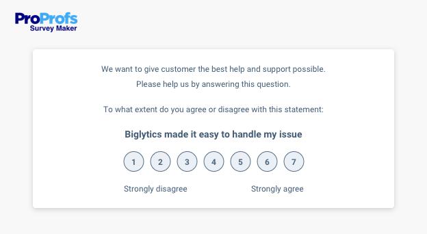 Survey question type