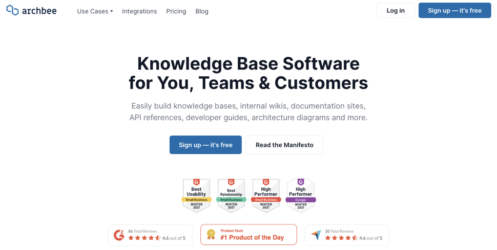 Archbee knowledge base