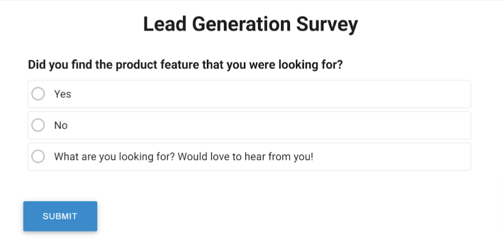 Lead Gen Survey by ProProfs