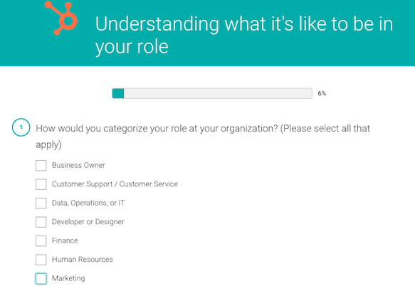 Lead Generation Survey Example