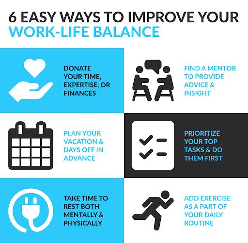 Ways to improve work life balance