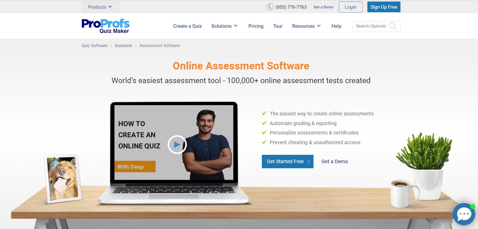 proprofs online assessment