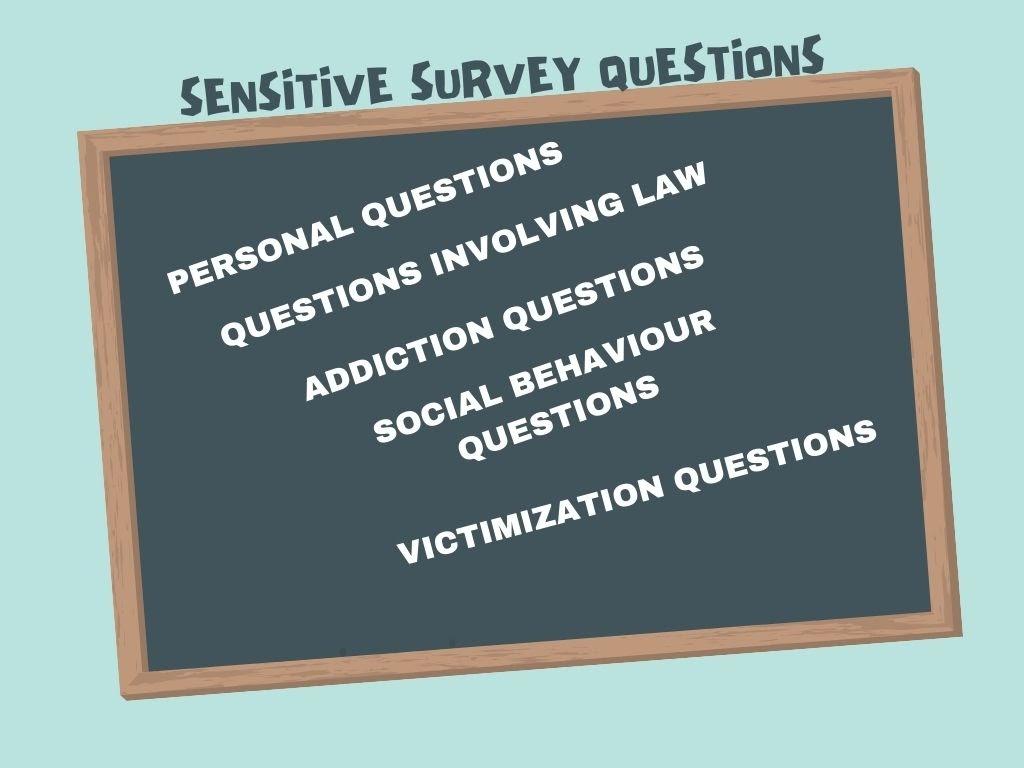 Sensitive survey questions