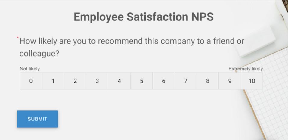 Employee Satisfaction NPS Template