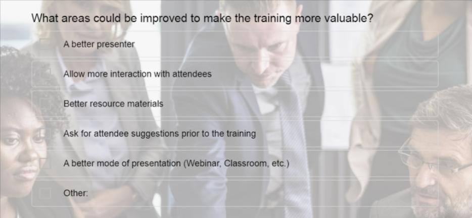 Employee Training Survey Template
